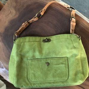 Handbags - Cato green faux suede purse
